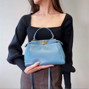 Fendi peekaboo small size leather bag